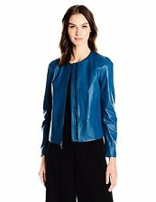 Anne Klein Women's Zip-Front Leather Jacket - Choose SZ/Color