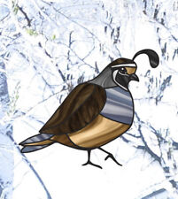 CLR:WND - Quail Bird - Stained Glass Style Vinyl Window Decal Sticker ©YYDC