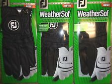 THREE (3) NEW FootJoy WeatherSof Golf Gloves, PICK SIZE, #1 Glove in Golf, BLACK