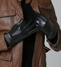 Mens Classic Tough-Screen Driving Gloves Soft 100% Real Lambskin Leather Winter