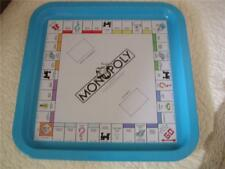 """Vtg Tin Metal Litho 1984 Monopoly Board Game Serving Tray Parker Brothers 14"""" NY"""