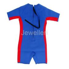 Infant Kids Childs Shorty Shortie Wetsuit Beach Swim Back Zipper 1-10 Years
