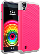 LG X Power Case Tauri Drop Protection Dual Layer Protective Shockproof XPower Hy