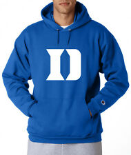 Duke Blue Devils D Logo Champion Hoodie Pullover Jumper Sweatshirt Royal Blue