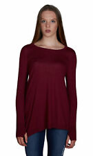 Sogi Asymmetric Hem with Lace Up Shoulder Sweater