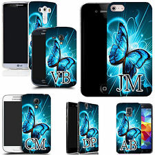 PERSONALISED INITIALS CASE FOR MANY MOBILES - futuristic floral MONOGRAM