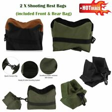 2pcs Shooting Range Sand Bag Set Rifle Gun Bench Rest Stand Front Rear Bag New