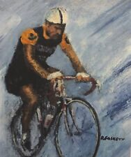 Raymond Poulidor tour de france Cycling Original painting framed or unframed