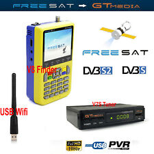 Freesat DVB-S2 V7 Satellite Receiver TV Tuner V8 LCD Finder Tool HD Decoder Wifi