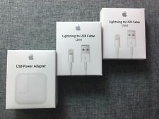 12W USB Power Adapter Wall Charger for Apple iPad 2 3 4 Air + 3ft or 6ft Cable