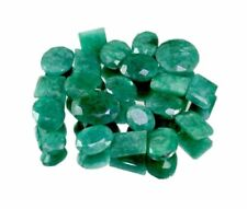 Natural Green Emerald Faceted Loose Gemstones Wholesale Lot Ring Size
