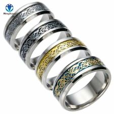 4 COLORS Vintage Gold Free Shipping Dragon 316L stainless steel Ring Mens Jewelr
