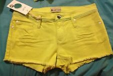 New With Tags Juniors Roxy Denim Shorts, Yellow, Retail $44.50