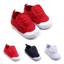 Toddler Infant Baby Boys Girls Infant Canvas Shoes Soft Sole Crib Shoes 4 Colors