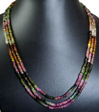 3/4/5/7 Strands Natural Multi Row Tourmaline 4mm Gemstone Beads Strings Necklace