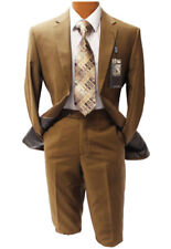 Angelo Rossi by Giorgio Cosani Brass Brown Modern Fit Suit Mens Suits