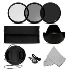 Neutral Density Filter Kits ND2+ND4+ND8+Filter Bag+cloth for Canon Nikon Camera