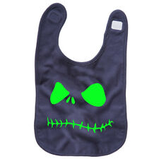 Pumpkin Face Baby Bib Reversible Printed one side Haloween Funny TS296