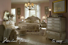 AICO Furniture - Lavelle Blanc 3 Piece Queen Wing Mansion Bedroom Set - 54000QNW