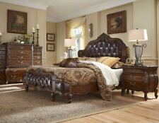 AICO Furniture - Lavelle Melange 4 Piece Queen Wing Mansion Bedroom Set with Lea