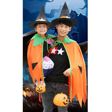 Halloween Pumpkin Cloak Cape Cosplay Costume Home Party Role Play Fancy Dress up