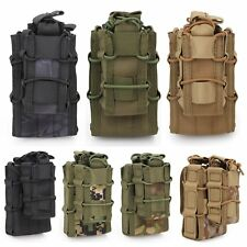Tactical MOLLE Magazine Pouch Double Rifle &Pistol Mag Holster Ammo Bag Vest Kit