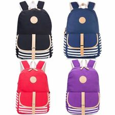 Women's Girls Canvas School Backpack Student Bookbag Rusksack Travel Bags Casual