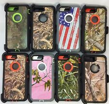 For Apple iPhone 8 Plus Camo Cover Case(Belt Clip Fits Otterbox Defender Series)