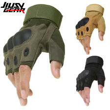 Motorcycle Cycling Hard Knuckle Half Finger Gloves Paintball Tactical Fingerless