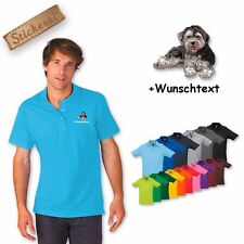 Polo Shirt Shirt Cotton Embroidered Embroidery Havanese 2 + Text of your choice