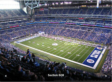2 Cleveland Browns vs Indianapolis Colts 9/24 Tickets Opener Front Row Lucas Oil
