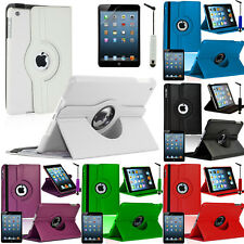 PU Leather 360° Turnable Protective Case for Apple iPad Mini/iPad Mini 2/iPad 3