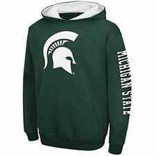 Youth Michigan State Spartans Green Screened Zone Pullover Hoodie Sweatshirt