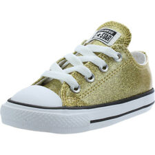 Converse Chuck Taylor All Star Glitter Ox Gold Synthetic Baby Trainers Shoes