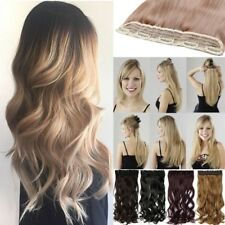 Premium Clip In Mega Thick Hair Extensions One Piece Hair Extensions 5 Clips HYR