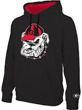 Georgia Bulldogs Mens Black Embroidered Icon Hoodie Sweatshirt