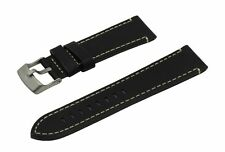 SWISS REIMAGINED Hypoallergenic Calfskin Leather Watch Band with Titanium Buckle