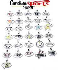 NFL Team Logo Pendant Charm Necklace 925 Sterling Silver Snake Chain Football