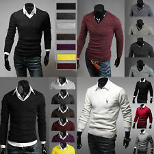Stylish Men's Slim Fit Sweater Casual Cotton Pullover Jumper Tops Warm Cardigan