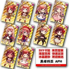 Axis Powers Anime Hetalia World Series Main Characters Card Stickers 10pcs/set