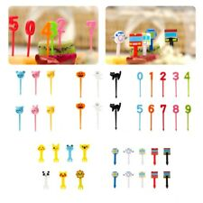 Farm Cartoon Animal Fruit Fork Set Plastic Cute Toothpick Tableware Picks Food