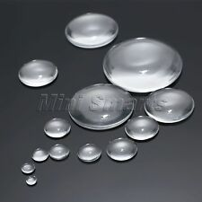 DIY Crafts 6mm-50mm Clear Round Flatback Glass Cabochon Dome Scrapbooking Beads