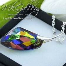 925 Sterling Silver Necklace* GALACTIC* Vitrail Medium Crystals from Swarovski®