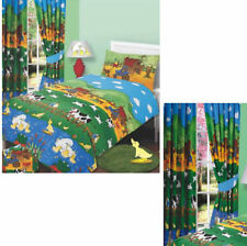 BRAND NEW UNIQUE FARM YARD PRINT DUVET QUILT COVER BED SET OR MATCHING CURTAIN