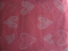 "VALENTINE'S DAY PINK HEARTS VINYL TABLECLOTH FLANNEL BACK 52"" X 90"""