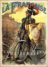 Cycles La Francaise 1898 French Bicycle Advertising Vintage Poster Print