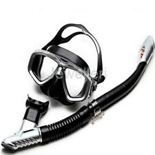 Adult Scuba Anti-Fog Goggles Mask and Dry Snorkel Set Diving Snorkeling Gear