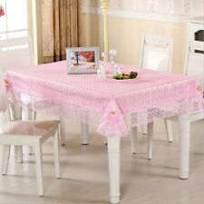 Floral Embroidered Tablecloth Lace Cutwork Doily Party Dinner Table Tablecloth