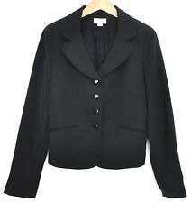 Ann Taylor Loft Black Mini Polka Dot Blazer Sz 6 Made in USA EUC