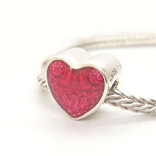 Genuine Authentic S925 Sterling Silver Latin Love Heart Bead Charm